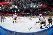 Bald sollen hier nicht nur Eishockeyspiele sondern auch Konzerte stattfinden können: Die Bossard-Arena in Zug. (Bild: Alexandra Wey / Keystone)