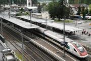 Der Bahnhof in Flüelen hat künftig keine Schalter mehr. (Bild: Elias Bricker / Neue UZ)