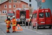 Der Alarm löste ein Grossaufgebot der Feuerwehr Altdorf aus. (Bild: Florian Arnold (Altdorf, 23. November 2017))