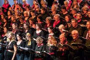 Der Chor Audite Nova Zug. (Bild: Christian H. Hildebrand (Zug, 17. März 2018))