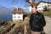 Die Baustelle beim Pfarrhaus hat Kirchenratspräsident Peter Schuler in diesem Jahr zusätzliche Arbeit beschert. (Bild: Urs Hanhart / Neue UZ)