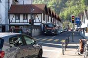 Die Seestrasse in Hergiswil. (Archivbild: Kurt Liembd)