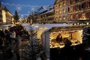 Schöne Feststimmung auf dem Weihnachtsmarkt in Willisau (Bild: Archiv Neue LZ (Boris Bürgisser))