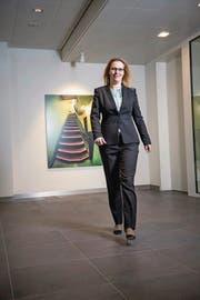 Susanne Thellung (42), Leiterin der UBS Zentralschweiz. (Bild: Roger Grütter (Luzern, 7. April 2017))