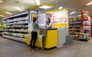 So wie in der Spar-Filiale im Würzenbach (Bild) könnte auch die Filiale im Schönbühl künftig aussehen. (Bild: Philipp Schmidli (Luzern, 13. Oktober 2017))