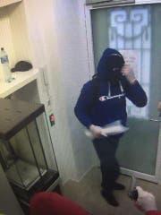 Aufnahme einer Überwachungskamera.