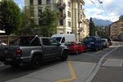 Stau gab es bereits an der Maihofstrasse stadteinwärts. (Bild: Stefanie Nopper / luzernerzeitung.ch)