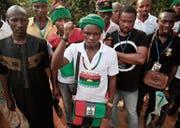 Demonstranten in Umuahia fordern die Unabhängigkeit Biafras. (Bild: Lekan Oyekanmi/Keystone (28. Mai 2017))