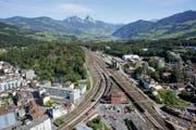 Mit der Neat ändert sich auch für die Region und vor allem für den Bahnhof Arth-Goldau viel. (Bild: Archiv Bote der Urschweiz)