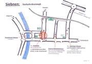 Skizze des Grosskreisels Siebnen. (Bild: siebnen-dorfplatz.ch)