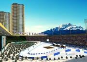 Biathlon-Wettkämpfe 2020 in der Luzerner Swissporarena: Daraus wird nun nichts. (Bild: Visualisierung PD)