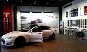 Der neue Basel City Store von Tesla am St.-Alban-Graben. (Bild: PD)