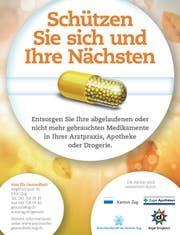 Schützen Sie sich und Ihre Nächsten: Plakatkampagne des Amt für Gesundheit des Kantons Zug. (Bild PD)