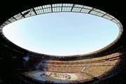 11. Juni 2010: Im Stadion von Johannesburg findet die Eröffnungsfeier zur Fussball-WM in Südafrika statt. (Bild: EPA/Kerim Okten)