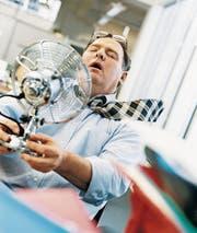 Gluthitze, verschwitzte Hemden, ratternde Ventilatoren: nervenaufreibender Sommer! (Bilder: Getty)