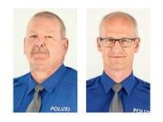 Daniel Bussmann (links) und Georges Dumont verlassen das Korps der Luzerner Polizei. (Bild: PD)