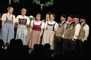 Jubiläumskonzert des Jodlerclubs Schlossgruess Cham im vollbesetzten Lorzensaal. (Bild: Maria Schmid (11. November 2017))