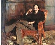 Robert Louis Stevenson (gemalt von John Singer Sargent) 1887, zwei Jahre vor seiner Auswanderung nach Samoa. (Bild: PD)
