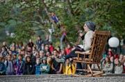 Am Kantonaltag der Pfadi Luzern messen sich Pfader bei verschiedenen Spielen rund um das Kloster Baldegg. Im Bild ist das Eröffnungstheater zu sehen. (Bild Pius Amrein)