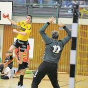 Pascal Aschwanden erzielte in dieser Saison schon 19 Treffer. (Bild: Urs Hanhart (Altdorf, 26. September 2017))