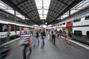 Blick in den Bahnhof Luzern. (Archivbild Neue LZ)