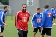 Trainer Markus Babbel und sein Team sind am Donnerstag in Berlin. (Bild: Keystone / Urs Flueeler)