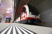 Eine der Haltestellen, die ab Montag für sieben Tage wegen den Bauarbeiten nicht bedient werden: Luzern Allmend/Messe. (Bild: Philipp Schmidli / Neue LZ (Archiv))