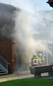 Bei einem Clubhaus in Littau brannte die Fassade. (Bild: Luzerner Polizei)