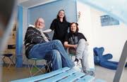 Die tanzverrückte Familie Gio, Sandra und Teresa Gautschi (v. l.). (Bild: Werner Schelbert (Baar, 15. März 2018))