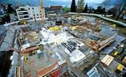 Der Rohbau des Untergeschosses des künftigen Ägeribads ist schon fast fertig.Bild: Stefan Kaiser (Oberägeri, 14. November 2016)