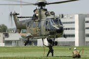 Der Super Puma ist auch in Beromünster im Einsatz zu sehen. (Bild: Schweizer Luftwaffe)