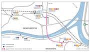 Neue Verkehrsführung für den ÖV am Seetalplatz: Die Busse verkehren getrennt vom motorisierten Individualverkehr über den Bushof sowie die Untere Zollhausbrücke und nutzen die verkehrsberuhigte Hauptstrasse durch Reussbühl. (Bild: PD)