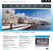 Der neue Webauftritt der Stadt Zug. (Bild: Print-Screen)
