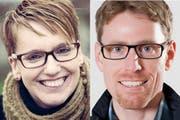 Neue Schulleiter in Emmen: Beatrice Stadler-Birrer aus Emmen und Roman Brügger aus Kriens. (Bild: PD)