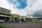 Der Pavillon kommt auf dem Gelände des alten Werkhofareals im Eu zu stehen. (Bild: Maria Schmid (Menzingen, 12. September 2017))