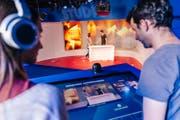 Die Besucher können Medieninhalte selber produzieren (Bild: PPR/Jean-Christophe Dupasquie)