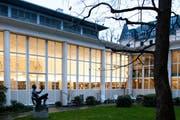 Lesesaal der Zentral- und Hochschulbibliothek Luzern. (Bild: Roger Grütter / Neue LZ)