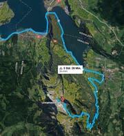 Diese Route wählten die beiden «Töffli-Wanderer» (Bild: PD)