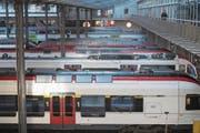 Vorläufiger Stillstand: Der Luzerner Tiefbahnhof kommt wohl erst für den Ausbauschritt 2040 in Frage. (Bild: Urs Flüeler/Keystone (23. März 2017))