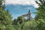 Das Schloss Schauensee am Hang des Pilatus in Kriens. (Bild: Pius Amrein (20. Mai 2016))