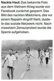 Facebook-Posts: Gesperrte Bilder und Videos. (Bild: LZ)