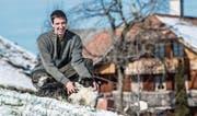 Joel Wapf ist Präsident des neuen Bäuerinnen- und Bauernvereins Luzerner Hinterland. (Bild: Nadia Schärli (Hergiswil bei Willisau, 14. Februar 2018))