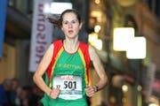 Flavia Stutz, hier im Bild beim Luzerner Stadtlauf im April, realisierte beim Willisauer Lauf einen neuen Streckenrekord. (Bild: Philipp Schmidli / Neue LZ)