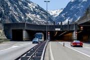 Nordportal des Gotthard-Tunnels bei Göschenen. (Bild: Keystone)