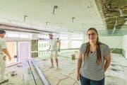 Angela Tarantino in der früheren Papeterie Birrer. Hier wird sie am 22. Juli die «Krienser Papeterie» eröffnen. (Bild: Roger Grütter (6. Juli 2017))