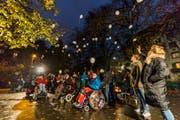 Die Ballone der Hoffnung, welche zum Start der Crowd-Funding-Aktion in den Himmel stiegen, brachten Glück. (Bild: PD/STEFANO SCHROETER)