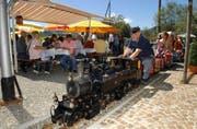 Eine ähnliche Bahn wie die des Modelleisenbahnclubs Einsiedeln wird 2015 durch den Tierpark fahren. (Archivbild Bert Schnüriger)