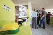 Die Ausstellung im Schluechthof zeigt Chancen und Gefahren der Digitalisierung in der Landwirtschaft auf. (Bild: Jakob Ineichen (Cham, 8. März 2018))