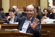 Louis Schelbert sagt Tschüss. (Bild: Anthony Anex / Keystone (Bern, 8. März 2018))