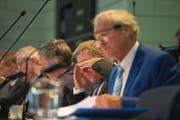 Erntet Kritik: Finanzdirektor Marcel Schwerzmann – hier bei der Budgetdebatte im Kantonsrat. (Bild: Dominik Wunderli (Luzern, 11. September 2017))